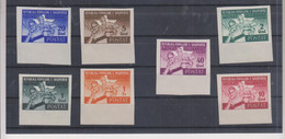 ALBANIA,1946 SPORT BALCAN GAMES Imperforated Set  No Gum - Albania