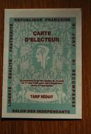 Carte D'électeur Salon Des Independants Paris Grand Palais - Documenti Storici