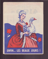 """Publicitaire """" La Comtesse Du Barry """" à Gimont , 1958 - Publicités"""