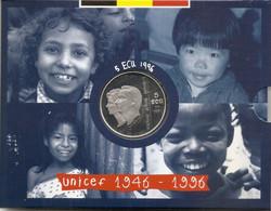 ALBERT II * 5 ECU 1996 * 50 Jaar UNICEF *  QP Blister  * Nr 10274 - 09. Ecu