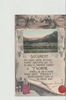 YVORNE .... Verres De Vin à Votre Bonne Santé. Prosit ! (district D'Aigle) - VD Vaud