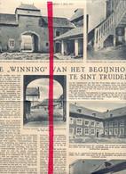 Orig. Knipsel Coupure Tijdschrift Magazine - Sint Truiden - De Winning Van Het Begijnhof - 1937 - Unclassified