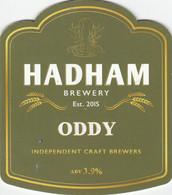 HADHAM BREWERY   (LITTLE HADHAM, ENGLAND) - ODDY - PUMP CLIP FRONT - Uithangborden
