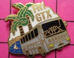 113B Pin's Pins / Beau Et Rare / THEME : TRANSPORTS / ARTHUS BERTRAND AUTOBUS RENAULT ROUTIER FR1 GTX - Trasporti