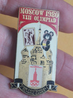 Pin Russia 20 - OLYMPIC GAMES, JEUX OLYMPIQUES, MOSCOW 1980, MOSKVA, Bear, Ours - Olympic Games