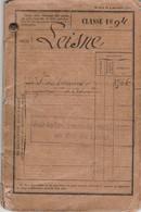 Classe 1894 - LIVRET MILITAIRE Pour François LEISNE Avec Détail De Ses Emplacements Pendant La Guerre 1914/18 - Documentos Históricos