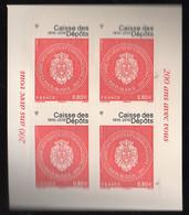 BICENTENAIRE DE LA CAISSE DES DEPOTS - Timbres Adhésifs - 2016 - Ongebruikt