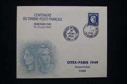 FRANCE - Enveloppe FDC En 1949 - Centenaire Du Timbre Français - L 94242 - ....-1949