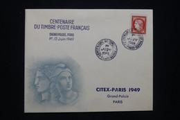 FRANCE - Enveloppe FDC En 1949 - Centenaire Du Timbre Français - L 94243 - ....-1949