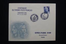 FRANCE - Enveloppe FDC En 1949 - Centenaire Du Timbre Français - L 94245 - ....-1949