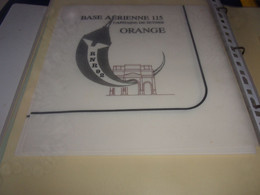 Serviette  Publicitaire  Militaire BASE AERIENNE 115 CAPITAINE DE SYNES ORANGE - Company Logo Napkins