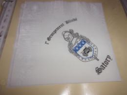 Serviette  Publicitaire  Militaire  GROUPEMENT BLINDE SATORY - Company Logo Napkins