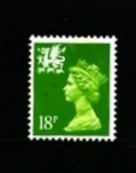 GREAT BRITAIN - 1991  WALES 18  P.  PERF.  13 X 14  MINT NH   SG  W48b - Wales