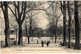 28-CHARTRES- LA PLACE DROUAISE-VUE PRISE DE LA PROMENADE DE LA BUTTE  DES CHARBONNIER- ANIMEE - Chartres