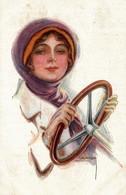 CPA L. USABAL - Donnina, Femme, Lady - Auto, Voitures, Car - VG - U030 - Usabal