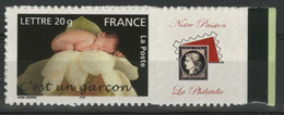 """N° 3805B """"C'est Un Garçon"""" Avec Vignette """"Notre Passion, La Philatélie"""" Cote 15 € Neuf ** MNH Qualité TB - Gepersonaliseerde Postzegels"""