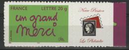 """N° 3761B """"Un Grand Merci"""" Avec Vignette """"Notre Passion, La Philatélie"""" Cote 17 € Neuf ** MNH Qualité TB - Gepersonaliseerde Postzegels"""