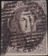 Belgie   .    OBP  .   10      .    O   . Gebruikt  .   /   .   Oblitéré - 1858-1862 Medallions (9/12)