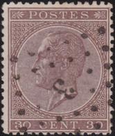 Belgie   .    OBP  .   19A         .    O   . Gebruikt  .   /   .   Oblitéré - 1865-1866 Perfil Izquierdo
