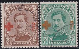 Belgie   .    OBP  .     151/152        .    O   . Gebruikt  .   /   .   Oblitéré - 1918 Red Cross