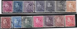 Belgie   .    OBP  .    14  Zegels     .    O   . Gebruikt  .   /   .   Oblitéré - Used Stamps