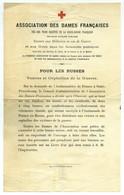 Guerre De 1914-18. Croix-Rouge. Association Des Dames Françaises. Vêtements Pour Les Veuves Et Orphelins Russes. Russie. - Documenti