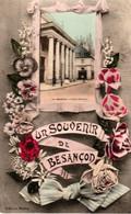 Un Souvenir De Besançon - Edition Mauny, Glaçée, Couleurs. Vue Du Théâtre. Circulée En 1908. Bon état. - Besancon