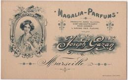 Carte Publicitaire Art Nouveau Magalia Parfums Joseph Gazan Marseille Parfum - Visitekaartjes