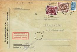 39990. Carta BENSBERG (Alemania Federal) 1954. Renania Palatinado. Stamp NOTOPFER Berlin - Lettres & Documents