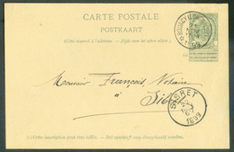 E.P. Carte 5 Centimes Datée De RACHAMPSet Obl. Sc Relais DeBOURCY (LONGWILLY)* 21 Novembre 1899 Vers Sibret. TB - - AK [1871-09]