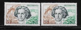 FRANCE  ( FVT - 420 )  1963  N° YVERT ET TELLIER  N° 1382/1382a  N** - Varieties: 1960-69 Mint/hinged