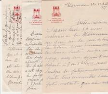 1927/41 - HÔTEL De LA MAMOUNIA à MARRAKECH - Correspondance Familiale De 3 Lettres Déjeuner Avec Le PACHA... - Documentos Históricos