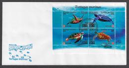 FDC CUBA 2020. FORMATO ESPECIAL. TORTUGAS CUBANAS. TURTLES - FDC