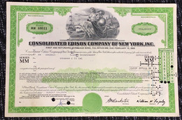 Share Stock Bond USA America Edison Compay New York - United States