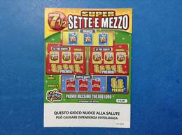ITALIA BIGLIETTO LOTTERIA GRATTA E VINCI USATO € 3,00 SUPER SETTE E MEZZO LOTTO 3005 ITALY LOTTERY TICKET - Lottery Tickets