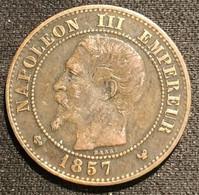 FRANCE - 2 CENTIMES 1857 W - Napoléon III - Tête Nue - Gad 103 - KM 776.7 - B. 2 Centesimi
