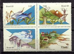 Brazil 1981 Brasil / Environment Protection MNH Protección Del Medio Ambiente / Cu0320  33-53 - Environment & Climate Protection