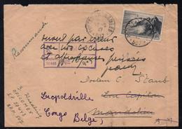 BPM 507 - BÜHL - ALLEMAGNE/ 1947 OFICOMEX LETTRE RECOMMANDEE POUR MANDELIEU REEXPEDIEE AU CONGO BELGE (ref 8196) - Cachets Militaires A Partir De 1900 (hors Guerres)