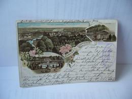 GRUSS AUS CANNSTATT ALLEMAGNE BADE WURTEMBERG CPA ANNEE 1897 - Altri