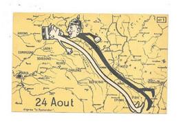MILITARIA SATIRIQUE GUERRE 1914 1918 FOCH GUILLAUME II FRONT DE GUERRE 24 AOUT - War 1914-18