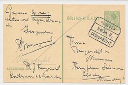 Treinblokstempel : Nijmegen - Dordrecht C 1934 - Non Classificati