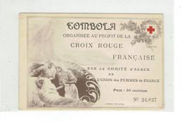 ALGERIE CROIX ROUGE - CPA TOMBOLA AU PROFIT DE LA CROIX ROUGE - COMITE D'ALGER - Red Cross