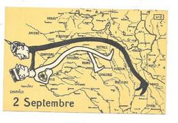 MILITARIA SATIRIQUE GUERRE 1914 1918 FOCH GUILLAUME II FRONT DE GUERRE 2 SEPTEMBRE - War 1914-18