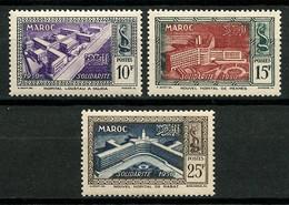MAROC 1951 N° 302/304 ** Neufs MNH  Superbes C 6.90 € Hôpital Loustau à Oudjda Nouveaux Hôpitaux Meknès Et Rabat - Nuevos