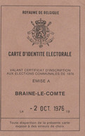 Braine - Le - Comte , Liste 12 , Election 1976 - Collezioni