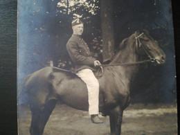PHOTO MILITAIRE SERGENT -FOURRIER 2e RÉGIMENT LANCIERS IDENTIFIÉ MORT PR PATRIE GUERRE 1914-1918 HUY LIÈGE BELGIQUE  CP - Geïdentificeerde Personen