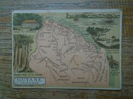 Assez Rare , Ancienne Carte D'école , Guyane Française Avec Multi-vues ( 11 X 8 Cm ) - Autres