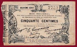 France 1 Bon De 0.50 Cts ---Fourmies (59)  -- ---dans L 'état ---lot N °192 - Notgeld