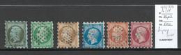 France - Yvert 11 à 17 Sauf 15  - Napoléon  - Piquage SUSSE - - 1853-1860 Napoleone III