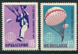 BULGARIA 1960 Parachuting Championship MNH / **.  Michel 1170-71 - Nuevos